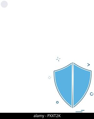 security badge law safety icon vector design - Stock Photo