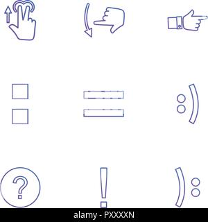 maths , emoji , equals , hands , pointer , arrows , directions , signs , ui , user  interface , technology , code , programming , icon, vector, design - Stock Photo
