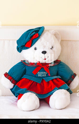 Grandma Bear teddy bear soft cuddly toy by DanDee - one of Grandparents Limited Edition teddies (for Grandpa Bear see PXY0A4) - Stock Photo