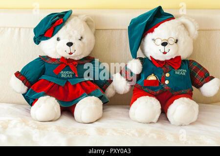 Teddy Bears - Grandparents Limited Edition by DanDee - Grandma Bear and Grandpa Bear teddy bears teddies soft cuddly toys - Stock Photo