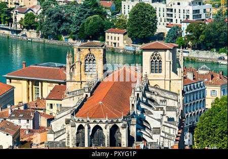 Saint Maurice Cathedral of Vienne in Isere, France - Stock Photo