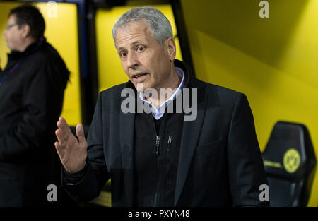 Dortmund, Germany. 24th Oct, 2018. 24 October 2018, Germany, Dortmund: Soccer: Champions League, Borussia Dortmund - Atlético Madrid, Group stage, Group A, Matchday 3: Dortmund coach Lucien Favre before the match. Credit: Bernd Thissen/dpa/Alamy Live News - Stock Photo