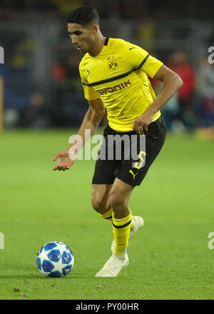 Dortmund, Germany. 24th October, 2018. Achraf Hakimi (Borussia Dortmund) during the UEFA Champions League, Group A football match between Borussia Dortmund and Atletico de Madrid on October 24, 2018 at Signal Iduna Park in Dortmund, Germany - Photo Laurent Lairys / DPPI Credit: Laurent Lairys/Agence Locevaphotos/Alamy Live News - Stock Photo