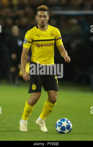 Dortmund, Germany. 24th October, 2018. Raphal Gueirrero (Borussia Dortmund)  during the UEFA Champions League, Group A football match between Borussia Dortmund and Atletico de Madrid on October 24, 2018 at Signal Iduna Park in Dortmund, Germany - Photo Laurent Lairys / DPPI Credit: Laurent Lairys/Agence Locevaphotos/Alamy Live News - Stock Photo