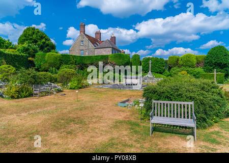 The ruins of Shaftesbury Abbey, Shaftesebury, Dorset, England, United Kingdom, Europe - Stock Photo