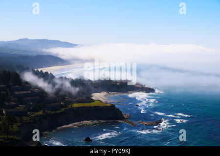 Beach on the ocean, view from above. Pacific Ocean, California - Stock Photo