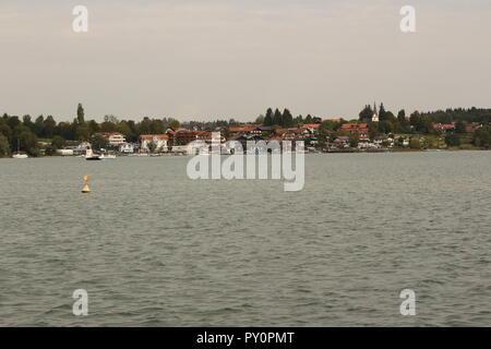 Urlaub auf der Fraueninsel im Chiemsee in Bayern - Stock Photo