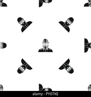 Orthodox jew pattern seamless black - Stock Photo