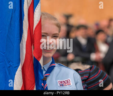 Iceland's Scout taking part in the festivities of Independence day, June 17, Reykjavik, Iceland - Stock Photo