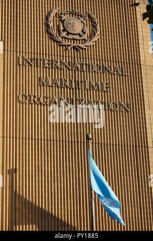 The International Maritime Organisation (IMO) is a UN maritime organisation, with headquarters on Albert Embankment, River Thames, Lambeth, London, UK - Stock Photo