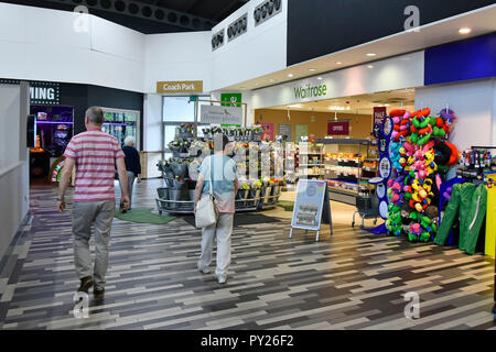 Travellers at Welcome Break interior facilities South Mimms motorway services area junction M25 motorway & A1 trunk road Potters Bar Hertfordshire UK