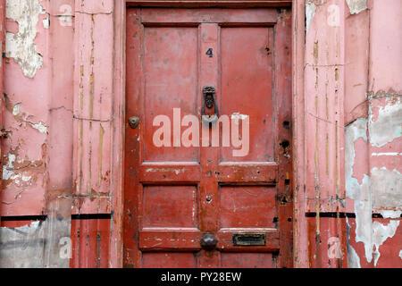 Door for Number 4 Princelet Street, Spitalfields, London, UK - Stock Photo
