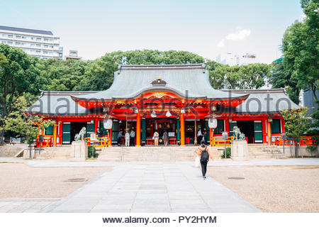 Kobe, Japan - October 1, 2018 : Ikuta shrine - Stock Photo