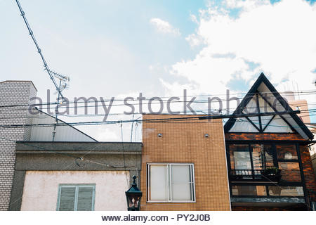 Torroad shopping street, old buildings in Kobe, Japan - Stock Photo