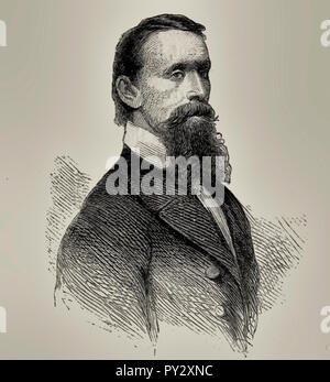 Portrait of Charles Eugene Flandrau, American lawyer who served on the Minnesota Supreme Court. He was also a colonel in the Union Army, during the Dakota War of 1862 - Stock Photo