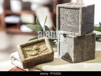 Seifenstuecke mit Olivenoel