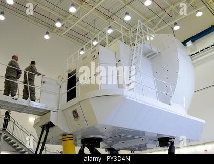 CAE Inc. C-130J Super Hercules full flight simulator at Ramstein Air Base. - Stock Photo