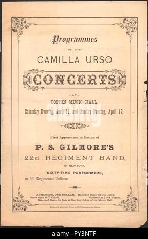 Camilla Urso Concerts - Boston Music Hall - U South Carolina. - Stock Photo