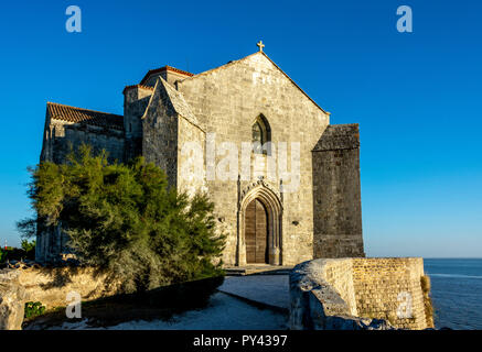 Saint-Radegonde, romanesque church of Talmont-Sur-Gironde, Charente Maritime, Nouvelle-Aquitaine, France - Stock Photo