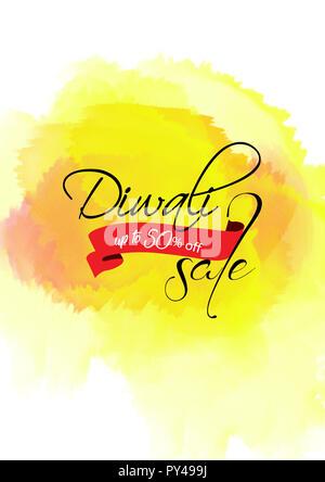 Creative sale banner or sale poster for festival of diwali celebration - Stock Photo