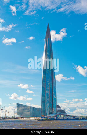 Lakhta Center, tallest building in Europe, Gazprom headquarters, Lakhta, Saint Petersburg, Russia - Stock Photo