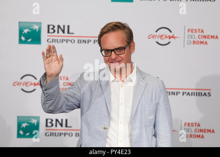 Rome, Italy. 24th Oct, 2018. Jon Baird, director of the movie 'Stan and Ollie' make his photocall at the 13th edition of Rome Cinema Fest in Auditorium Parco della Musica. Credit: Paolo Pizzi/Pacific Press/Alamy Live News - Stock Photo