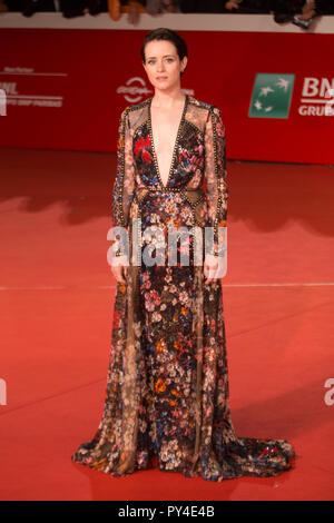 Roma, Italy. 24th Oct, 2018. Red Carpet with British actress Claire Foy at the Rome Film Fest Credit: Matteo Nardone/Pacific Press/Alamy Live News - Stock Photo