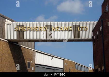 Faversham Kent Shepherd Neame Brewery Bridge - Stock Photo