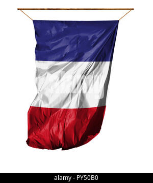 Flag of France. Vertical flag.Isolated on a white background. - Stock Photo