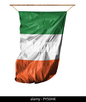 Flag of Ireland. Vertical flag.Isolated on a white background. - Stock Photo