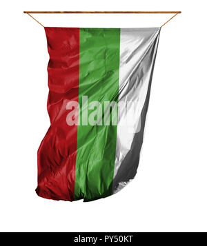 Flag of Bulgaria. Vertical flag.Isolated on a white background. - Stock Photo
