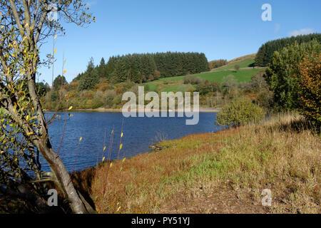 Pontsticill Reservoir, Brecon Beacons National Park, Powys, Wales, UK. Stock Photo