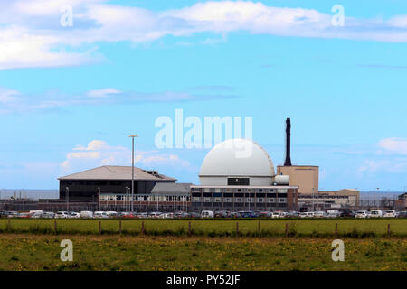 Dounreay, decommissioned nuclear power station, Scottish Highlands, Scotland, UK - Stock Photo