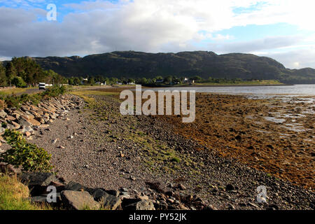 Loch Ewe, Poolewe, Scottish Highlands, Scotland, UK - Stock Photo