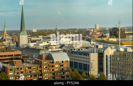Dortmund, Germany, October 20., 2018: Panoroma of th center of Dortmund - Stock Photo