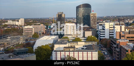 Dortmund, Germany, October 20., 2018: Panoroma of th center of Dortmund. - Stock Photo