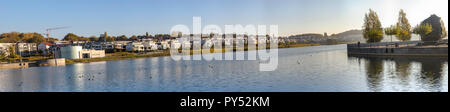 Dortmund, Germany, October 20., 2018: View of the north side of Lake Phoenix in Dortmund - Stock Photo