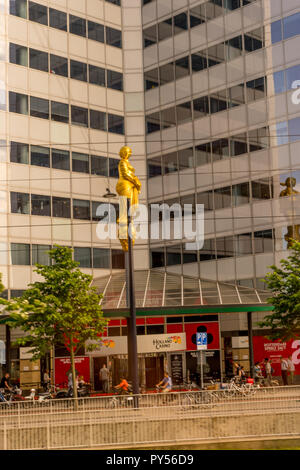 Rotterdam, Netherlands - 27 May:  Holland Casino building at Rotterdam on 27 May 2017. Rotterdam is a major port city in the Dutch province of South H - Stock Photo
