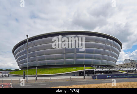The SSE Hydro on a cloudy Summers Day in July 2018, one of the UK's premier Event and entertainment centres. Glasgow, Scotland, UK - Stock Photo