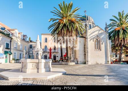 Archangel Michale orthodox church in the Old Town in Herceg Novi, Montenegro - Stock Photo