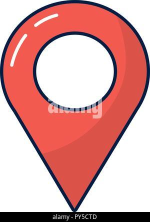 Map location pin - Stock Photo