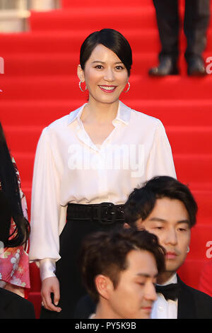 Tokyo, Japan. 25th Oct, 2018. Chinese actress Yu Feihong is pictured on the red carpet for the opening ceremony of the 31st Tokyo International Film Festival, Tokyo, Japan, Oct. 25, 2018. Credit: Du Xiaoyi/Xinhua/Alamy Live News - Stock Photo