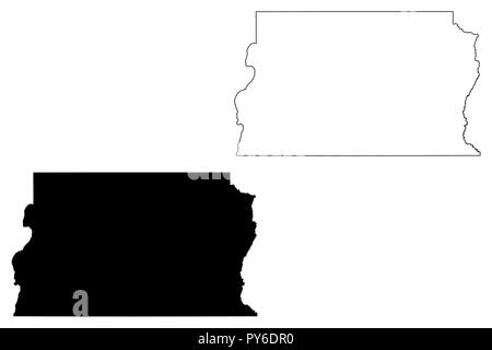 Federal District in Brazil (Region of Brazil, Federated state, Federative Republic of Brazil) map vector illustration, scribble sketch Federal Distric - Stock Photo