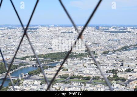 From inside the Eiffel Tower - Stock Photo