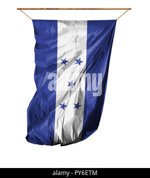 Flag of Honduras. Vertical flag.Isolated on a white background. - Stock Photo