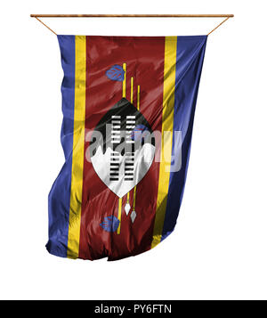 Flag of Swaziland. Vertical flag.Isolated on a white background. - Stock Photo