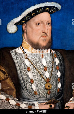 King Henry VIII by Hans Holbein the Younger, c 1537 - Stock Photo