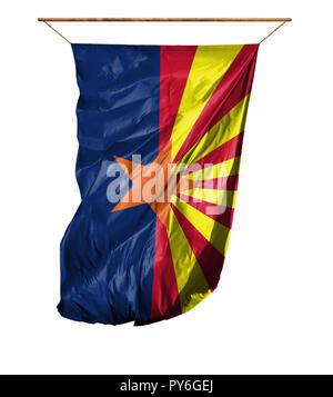 Flag State of Arizona. Vertical flag.Isolated on a white background. - Stock Photo