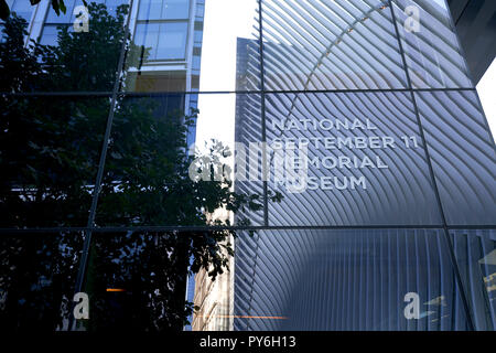 Exterior of the National September 11 Memorial Museum in New York City. - Stock Photo