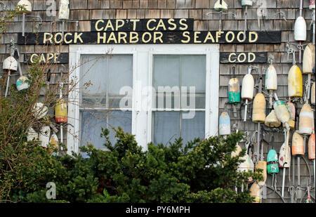Cap't Cass Rock Harbor Seafood Restaurant, Orleans, Massachusetts - Stock Photo